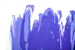 Ultra violet paint brush spot stroke on white. Ultra violet paint brush spot stroke on isolated white background stock illustration