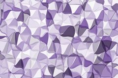 Ultra violet polygonal abstract background. Low poly crystal pattern. Design with triangle shapes. Stock Photography