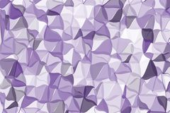 Ultra violet polygonal abstract background. Low poly crystal pattern. Design with triangle shapes. Royalty Free Stock Image