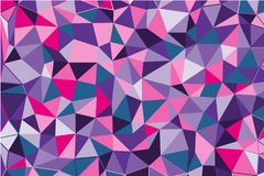 Ultra violet polygonal abstract background. Low poly crystal pattern. Design with triangle shapes. Pattern suitable for backgrounds, Wallpaper, screen savers stock illustration