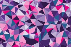 Ultra violet polygonal abstract background. Low poly crystal pattern. Design with triangle shapes. Royalty Free Stock Images