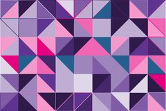 Ultra violet polygonal abstract background. Low poly crystal pattern. Design with triangle shapes. Stock Photos