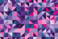 Ultra violet polygonal abstract background. Low poly crystal pattern. Design with triangle shapes. Stock Photo