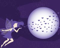 Ultra Violet Purple Fairy Vector Background Royalty Free Stock Photo