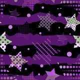 Ultra Violet Stars Background Royaltyfria Bilder