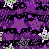 Ultra Violet Stars Background stock de ilustración