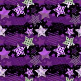 Ultra Violet Stars Background Foto de archivo