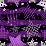 Ultra Violet Stars Background Arkivfoton