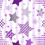 Ultra Violet Stars Background Fotografia de Stock
