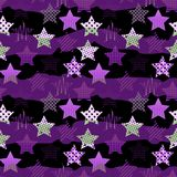 Ultra Violet Stars Background Royaltyfri Bild