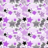 Ultra Violet Stars Background royaltyfri illustrationer
