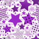 Ultra Violet Stars Background ilustración del vector