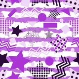 Ultra Violet Stars Background Illustration de Vecteur