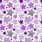 Ultra Violet Stars Background Royaltyfria Foton