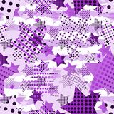 Ultra Violet Stars Background Arkivfoto