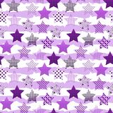 Ultra Violet Stars Background stock illustrationer