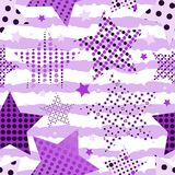 Ultra Violet Stars Background Arkivbild