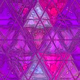 Purple and ultra violet triangles mosaic with rays of lavender color. Ultra violet triangles mosaic with rays of lavender color vector illustration