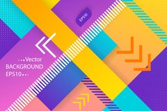 Ultra violet vector abstract background with linear design and diagonal stripe. Concept art. Halftone design template royalty free illustration