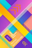 Ultra violet vector abstract background with linear design and diagonal stripe. Concept art. Halftone design template. For poster, banner, flayer, greeting Stock Photo