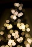 Ultra weiche Fokus-Weihnachtsleuchten Stockfotos