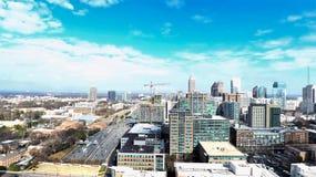 An aerial photo of Mid-Town Atlanta royalty free stock image