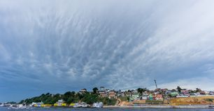 Ultra wide angle of Manaus with cloudy sky, Amazon Royalty Free Stock Images