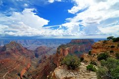 Ultra wide angle photography of the Grand Canyon Royalty Free Stock Photos