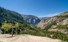 Ultra wide angle shot of a large valley Royalty Free Stock Photo