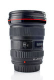 Ultra wide camera lens. Reflected on the white background Stock Photo