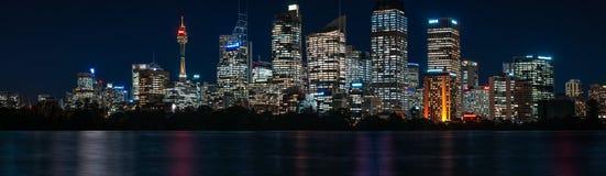 Ultra-wide Panorama of Sydney Waterfront Skyline Stock Photo