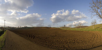 Ultra wide panoramic Country Stock Image