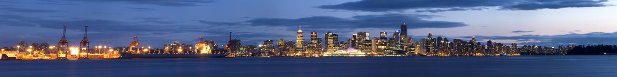 Ultra Wide Panoramic Shot - Vancouver, Canada Royalty Free Stock Photo