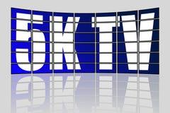 Ultra Wysoki definici 5K TV pojęcie ilustracja wektor