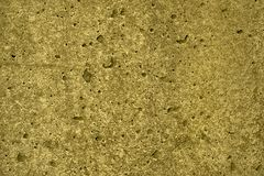 Ultra yellow Concrete cement texture, stone surface, rock background.  Royalty Free Stock Image