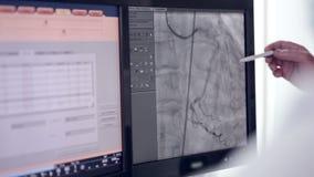 Ultradźwięk Istny bicie serca Ultrasonic egzamin na ekranie komputerowym zbiory