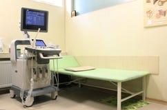 Ultradźwięk kliniki maszynowy gabinet obraz stock