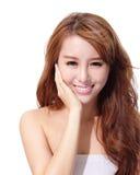 ULTRAFIOLETOWA opieka i Piękna kobiety twarz fotografia stock