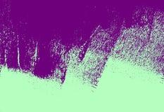 Ultrafioletowej i zielonej farby tła abstrakcjonistyczna tekstura z grunge muśnięcia uderzeniami ilustracja wektor