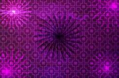 Ultrafioletowy tło i bezszwowy wzór z kwiatami cieniliśmy tło ilustracja wektor