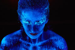 Ultrafioletowy zima portret Obrazy Stock
