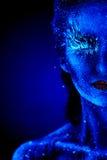 Ultrafioletowy zima portret Zdjęcie Royalty Free