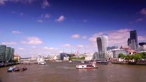 ULTRAhd echt 4k, - tijd, Stad van het Financiële District van Londen stock footage