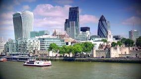 ULTRAhd echt 4k, - tijd, Stad van het Financiële District van Londen stock video