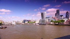 ULTRAhd echt 4k, - tijd, Stad van het Financiële District van Londen stock videobeelden