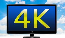 UltraHD Fernsehen Stockfotografie