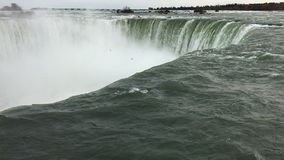 UltraHD Horseshoe Falls at the brink stock video footage
