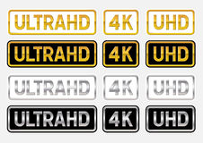 UltraHD logos Royalty Free Stock Photography