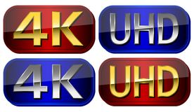 UltraHD plates Royalty Free Stock Image