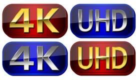 UltraHD-Platten Lizenzfreies Stockbild